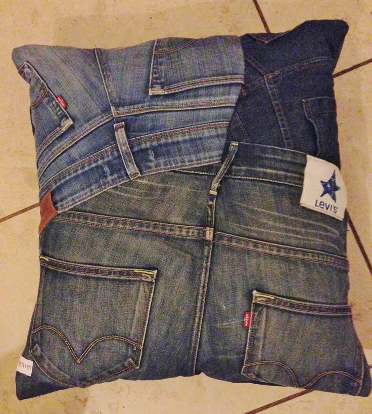 Denim Cushion made to order from Levis Jeans email - juliette@onlydenim.co.uk for bespoke designs!