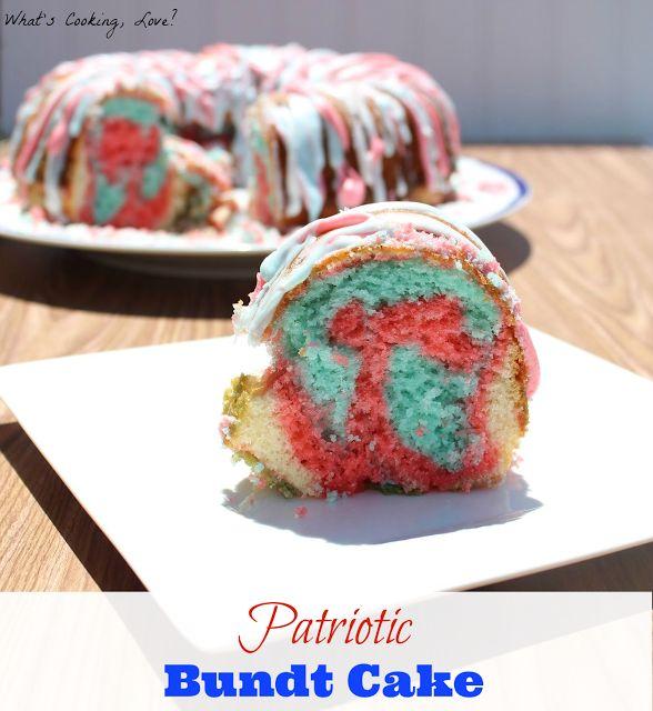 4th of july bundt cake