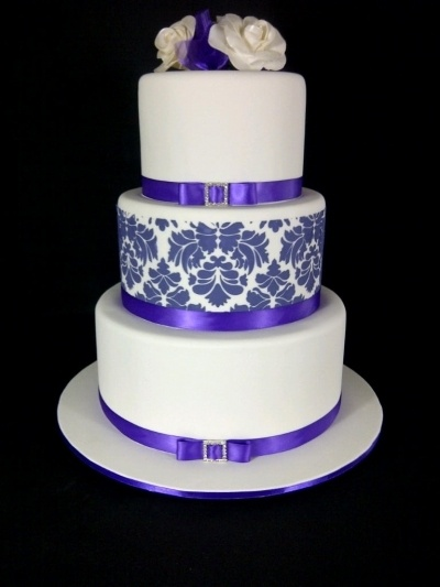 Three teir wedding cake. By danmarcakes on CakeCentral.com