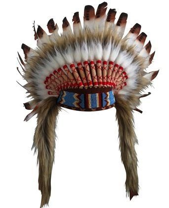 ADULT FEATHER HEADDRESS - BROWN for the end of the clothes rack