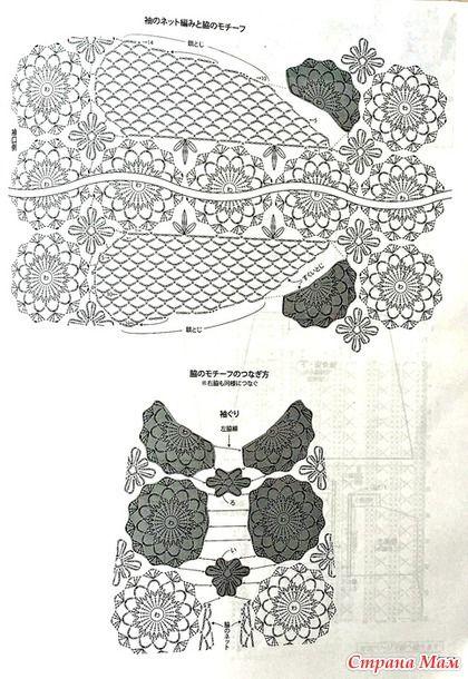 Это чудесное платье А силуэта интересно тем что в нем удачно сочетаются круглые цветочные мотивы и клинообразные вставки по боками из сетчатого узора. Смотрится просто шикарно!