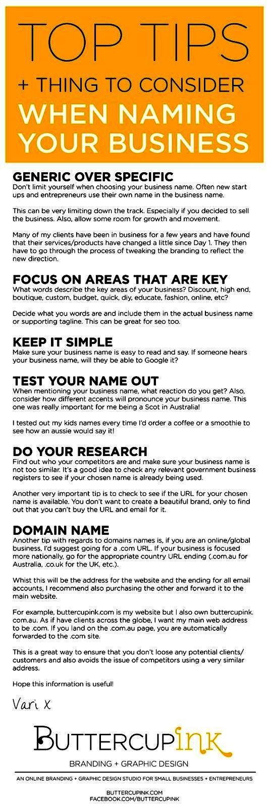 Naming Your Business. #BusinessName www.EyemarkRealty.com