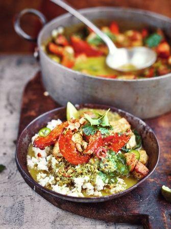 Jamie's Thai Green tofu curry