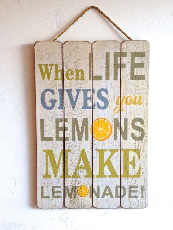 When Life Gives You Lemons Make Lemonade Home by honeywoodhome, $34.95