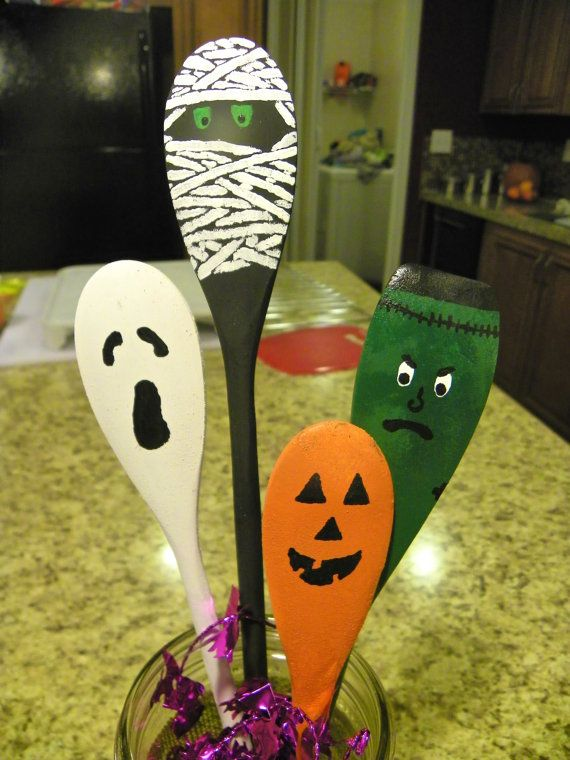 halloween spoons free shipping by benjaminswoodworking on etsy