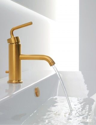 Gleaming Gold Bathroom