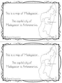 Madagascar Country Study | 48 Pages for Differentiated Learning + Bonus Pages    #Madagascar #country #study #teacherspayteachers #TPT #passport #resource #idea #teacher #postcard
