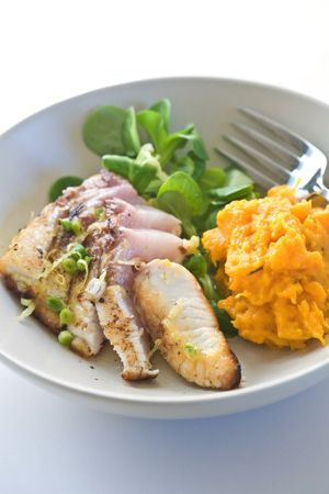 Seared Yellowtail Tuna in Lemon Dressing