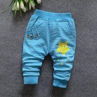 Niños ropa niños pantalones capris moda primavera otoño kids casual rayas botones bolsillos estrellas imprime los pantalones que hacen punto