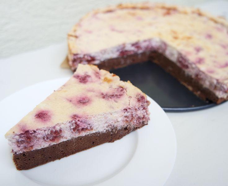 Raspberry ricotta-curd cake/Malinový ricottovo-tvarohový koláčik