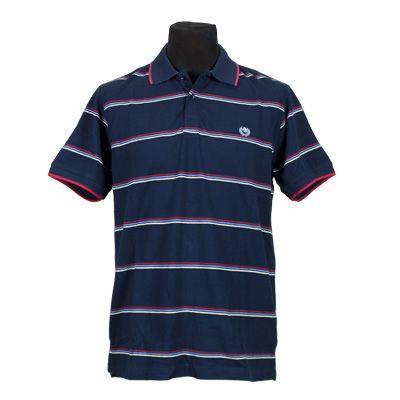Polo and T-Shirt - ASCOT SPORT - Polo Piquet Rigata - Blu - Estivo. € 16,50. #hallofbrands #hob #Polo #TShirt