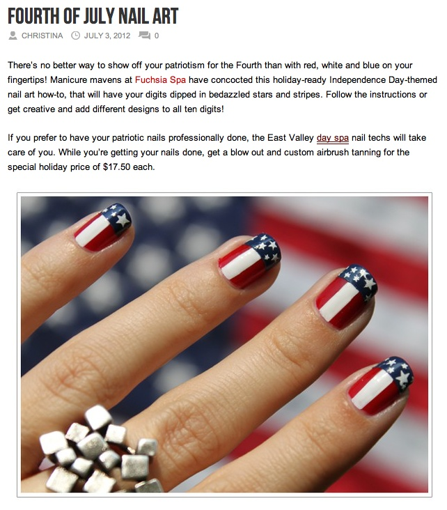 4th of July Nail Trends by Fuchsia Spa, featured in AZ Foothills!