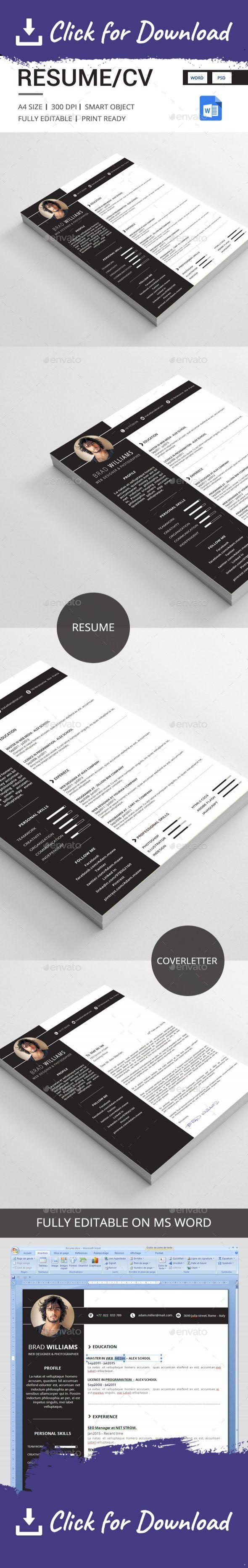 Cv 41 best Resume images on Pinterest