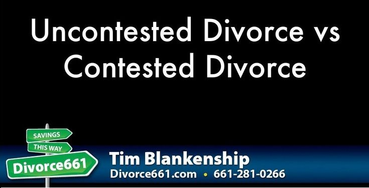 Uncontested Divorce vs Contested Divorce   When going through divorce, you cannot not know the difference between these two.