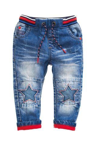 Kopen Donkerblauwe jeans met sterren op de knieën (3 mnd-6 jr) nu online op Next: Nederland