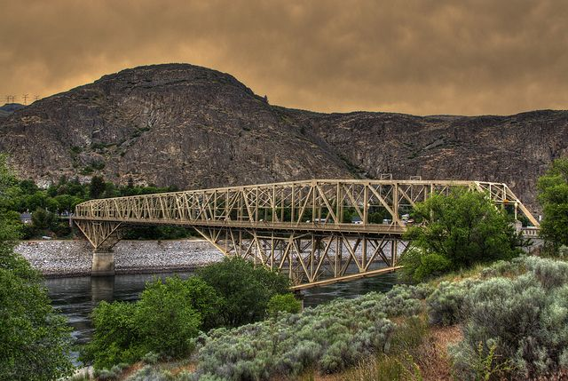 Columbia River Bridge at Grand Coulee Dam