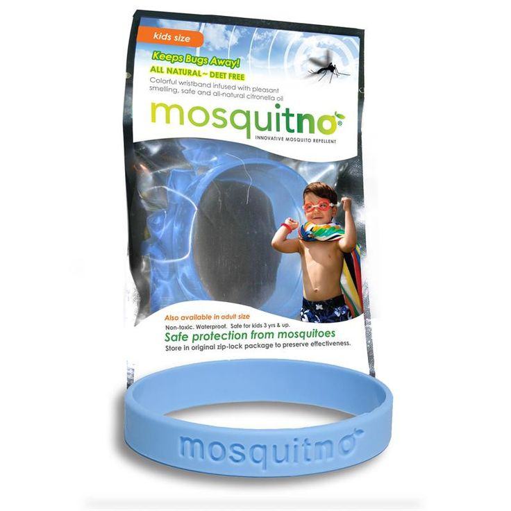 Mosquitno Bug Repelling Kids Wristband - Light Blue