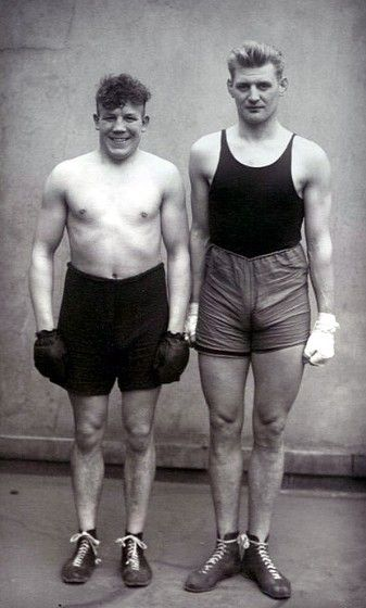 Die Boxer, Paul Roderstein, Hein Hesse (August Sander, 1928)