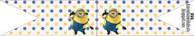 Minions: Free Printable Party Stationery.