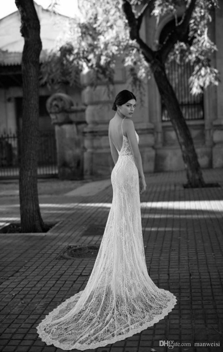 Gali Karten 2019 Sexy Mermaid Wedding Dresses Backless Spaghetti Neck Lace Appliqued Custom Made Vintage Bridal Gowns Lace Bridal Dresses Mature Wedding Dresses From Manweisi, $128.33| DHgate.Com