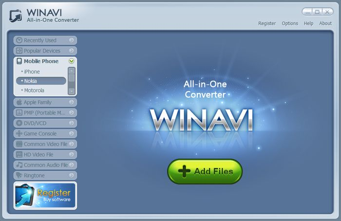 The fastest, easiest way to get WinAVI All-In-One Converter is from presented on this website. Updated version of WinAVI All-In-One Converter running up to date.