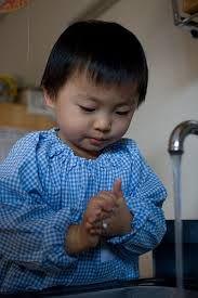 Resultado de imagen de Children hygiene washing hands glow