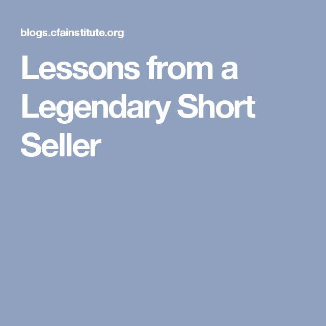 Lessons from a Legendary Short Seller