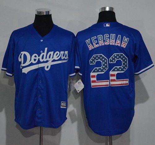 a1ec7b5f ... Dodgers 22 Clayton Kershaw Blue USA Flag Fashion Stitched MLB Jersey ·  Dodgers JerseysLos Angeles .