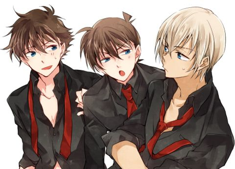 Kaito, Shinichi et Rei. On sait qui est l'intrus :)