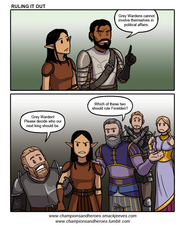Champions and Heroes - Age of Dragons :: Comics - Ruling It Out
