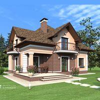 Рабочий проект жилого дома с мансардой