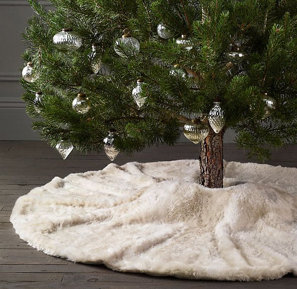 Luxe Faux Fur Tree Skirt - Restoration Hardware