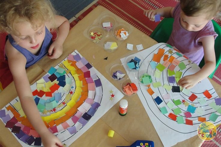 Stimulating the visual senses with rainbows!   Use leftover paint swatches to create beautiful rainbows with your children!