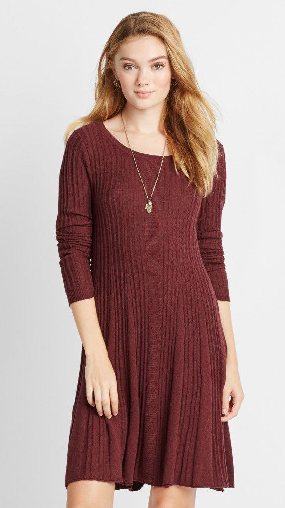 A cozy A-line sweater dress (with a keyhole cut-out in the back). | 30 Beautiful And Inexpensive Dresses You'll Want To Wear Every Day