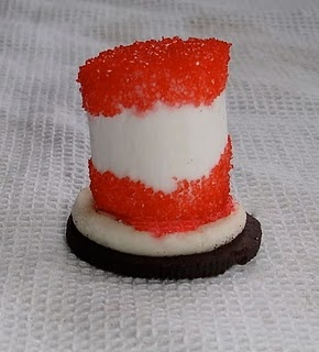 Oreo cookie marshmallow sprinkles, fun for Dr. Suess' birthday :0) /yep! I am sooooo making these for the kids! Score for mom! Thank you for pinning!