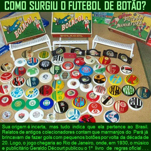 Como surgiu o jogo Futebol de botão?
