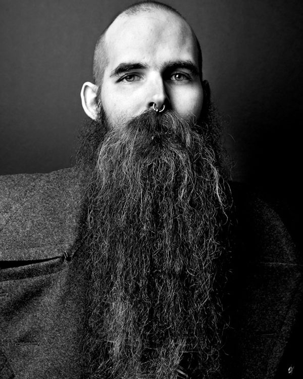 Photographing beards for a good cause.