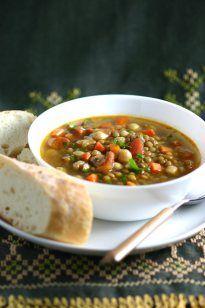 Middle Eastern Green Lentil Soup - Lands & Flavors