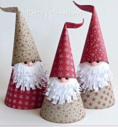 ❤ Aranyos karácsonyi manók (Télapók) papírból egyszerűen ❤Mindy -  kreatív ötletek és dekorációk minden napra