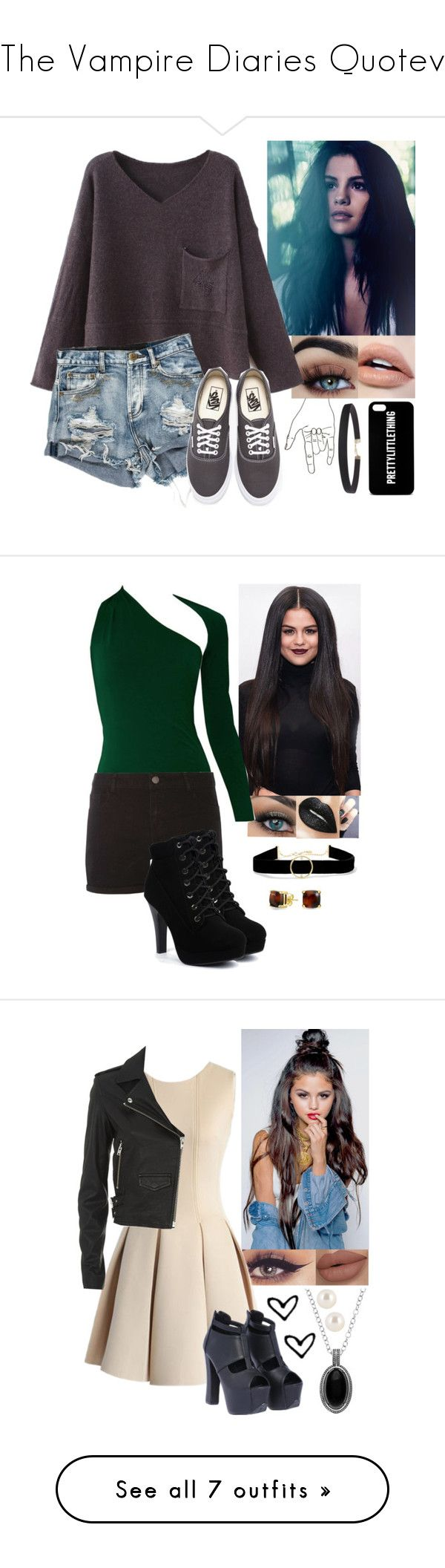 """""""The Vampire Diaries Quotev"""" by anotherlonelyteenager ❤ liked on Polyvore featuring Vans, Humble Chic, Dorothy Perkins, Bling Jewelry, Anissa Kermiche, Chicwish, Henri Bendel, IRO, Kate Bissett and Calvin Klein Underwear"""