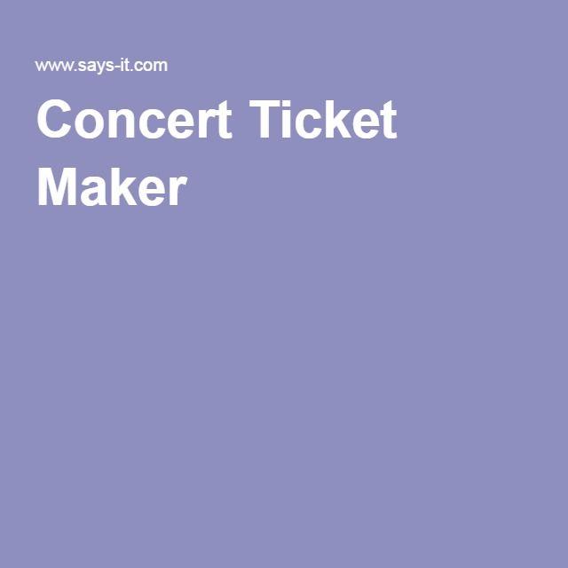 Best 25 Ticket maker ideas – Ticket Maker