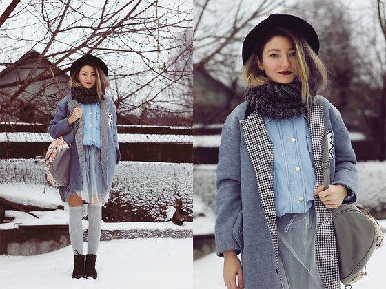 ♡Anita Kurkach♡ - Choies Hat, Sheinside Jacket, Romwe Coat, Blackfive Dress, Asos Shoes, Asos Bagpack - Only a Shadow.