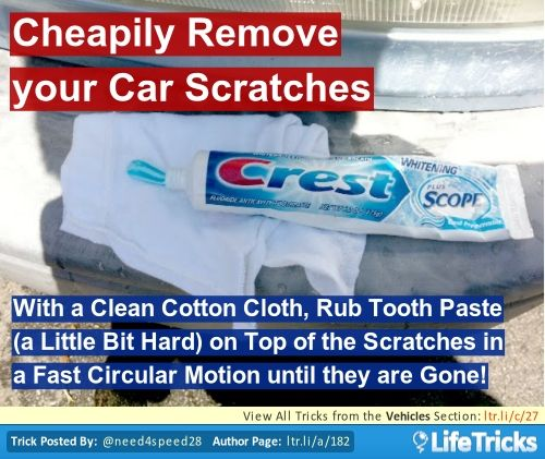 Remove your Car Scratches Using Tooth Paste