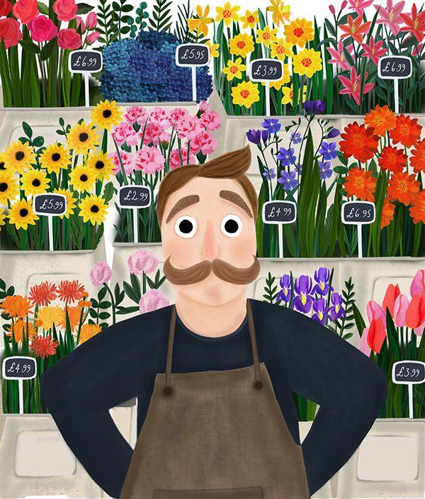 Kirsti Davidson Illustration   The Florist