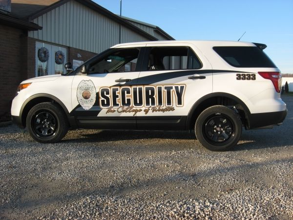 Security vehicle for the college of wooster by sign design call us today at 330
