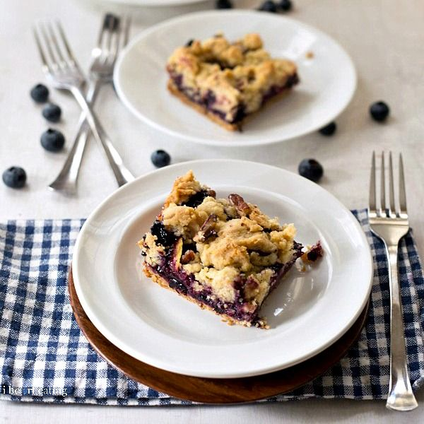 Blueberry-Peach Crumble Bars