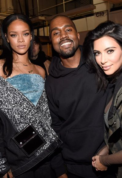 Rihanna, Kanye and Kim. What a NYFW FROW power trio *strong arm emoji*