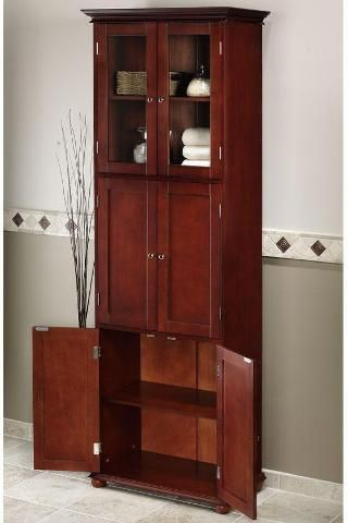 17 best images about tall cabinets on pinterest shelves - Tall bathroom storage cabinets with doors ...