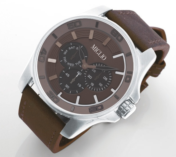 """""""Our timepieces are stylish and modern, designed to be out of the ordinary in sleek black, robust grey and rich brown."""" - Designer, Jenny Miller"""