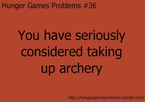 hunger games problem: My Friend, Hunger Games Problems, Books, Arrows, The Hunger Games, Archery, Funny Hunger Games, Bows, True Stories